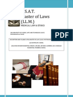 Master of Laws Medical Law