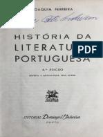 Dois livros Joaquim FERREIRA e SARAIVA  história da Literatura Portuguesa