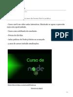 Aprenda o Node.js Do Zero de Forma Fácil e Prática.
