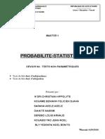 PROBABILITE STATISTIQUE G30 - DEVOIR N4