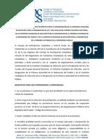 Convocatoria Comisiones Ciudadanas de Selección para CNE, Defensor Público y Defensor del Pueblo