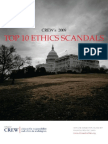 Top 10 Ethics Scandals of 2009