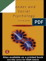 [Psychology Focus] Vivien Burr - Gender and Social Psychology