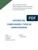 INFORME, HISTORIA DEL COMPUTADOR