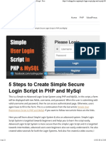 5 Easy Steps to Create Simple & Secure PHP Login Script