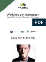 Usare Il Web in Modo Efficace Per Il Tuo Business - Workshop AssoImpresaItalia