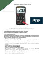 Manual Do Usuário Multímetro ANENG AN113A