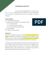 10 Plan de Financiamiento del Proyecto