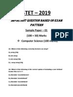 STET Model PAPER 1