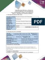 Guía de Actividades y Rúbrica de Evaluación Paso 2 - Presentación resumen analítico