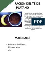 ELABORACIÓN DEL TÉ DE PLÁTANO