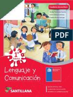 Lenguaje y comunicación 1° -  Cuaderno de escritura