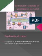 Balances de materia y energía en generadores de vapor