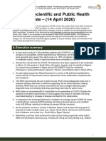 April 14 2020 COVID-19 Science and Public Health Policy update