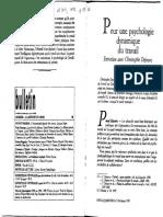ENTREVISTAS - Pour une psychologie dynamique du travail - 1992.pdf