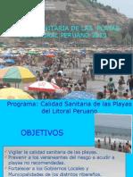 Calidad Sanitaria de Las Playas del litoral Peruano - DIGESA