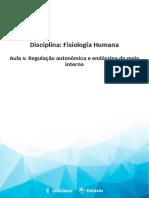 Aula 4 - Regulação autonômica e endócrina do meio interno