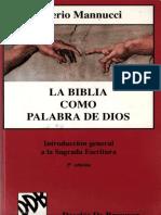 357659729 MANNUCCI v La Biblia Como Palabra de Dios Introduccion a La Sagrada Escritura 5 Ed 1997