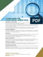 Brochure Comptabilité, Contrôle, Audit-CCA