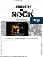 THE BEATLES - Dig A Pony [traducida al español] - EL TRADUCTOR DE ROCK