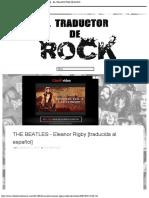 THE BEATLES - Eleanor Rigby [traducida al español] - EL TRADUCTOR DE ROCK
