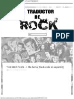 THE BEATLES - I Me Mine [traducida al español] - EL TRADUCTOR DE ROCK