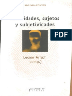 10 Arfuch, Leonor, Identidades, sujetos y subjetividades