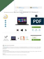 Notebook Lenovo Intel Core i3 4GB 500GB B40-70 14_ Windows 8.1 -Informática - Notebooks - Walmart