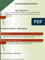 ACCIONES EXTRACAMBIARIAS