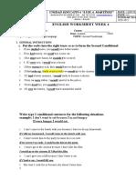 English worksheet week 4 3rd BGU.T