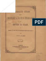 Considerações geraes sobre a emancipação dos escravos no Imperio do Brasil e indicação dos meios proprios para realisa-la