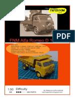 FNM Alfa Romeo D 11000 caçamba SIMPLES c tuto