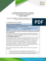 Guía de Actividades y Rúbrica de Evaluación - Unidad 1 - Tarea 2 - Geometría Molecular y Compuestos Coordinados