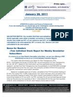 ValuEngine Weekly newsletter January 28, 2011