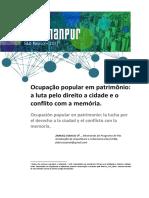 Ocupação popular em patrimônio a luta pelo direito a cidade e o conflito com a memória. - 2017.pdf