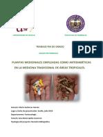 PLANTAS MEDICINALES EMPLEADAS COMO ANTIDIABÉTICAS