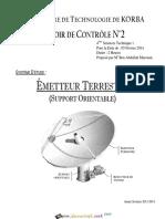 Devoir Corrigé de Contrôle N°2 - Génie mécanique Emmeteur Terrestre (Support Orientable) - Bac Technique (2013-2014) Mr Ben Abdallah Marouan.pdf