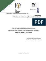 Neo-extractivismo vs. desarrollo local. Conflictos territoriales y patrimoniales en el pueblo minero de marmato, Colombia