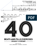 40 Beats and Fills Exercises - Ebook- BW