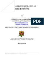 DESIGN AND IMPLEMENTATION OF SEISMIC SENSOR