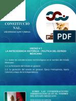 Unidad #1 .  LA ANTECEDENCIA HISTÓRICA-POLÍTICA DEL ESTADO MEXICANO