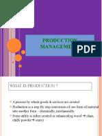 PRODUCTION MANAGEMENT final