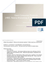 Giant Consumer Products Class Notes