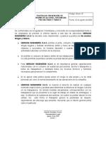 ANEXO POLITICA DE PREVENCION  DE CONSUMO DE SUSTANCIAS PSICOACTIVAS
