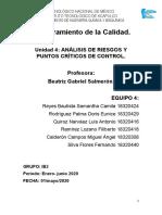 Unidad 4 Analisis de Riesgos y Puntos Críticos de Control. Equipo 4 (1).docx