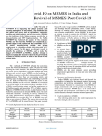 Impact of Covid-19 on MSMES in India and Strategies for Revival of MSMES Post Covid-19