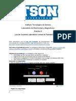 Práctica 3 - Ley de Coulomb Laboratorio de Fuerzas Eléctricas.docx