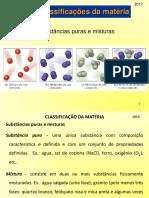 Classificação da matéria - Introdução à teoria atômica da matéria - Química geral (01)