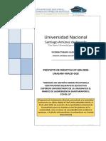 Proyecto de  Normativa de Gestion en tiempo de COVID-19 - Abril  2020 - No se tomo en cuenta
