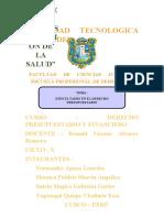 MONOGRAFIA DEL DERECHO PRESUPUESTARIO